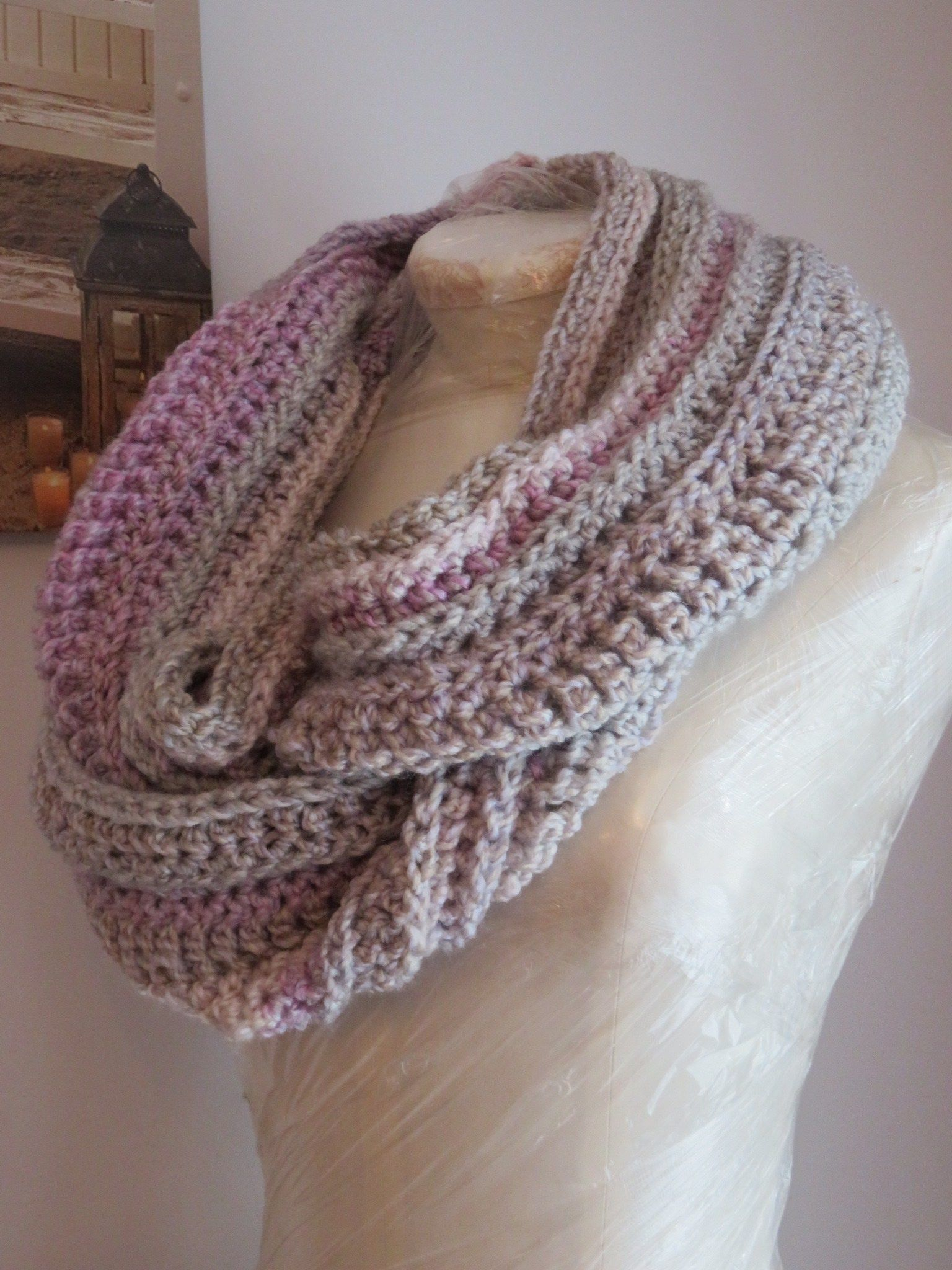 New Beginning Infinity Cowl Crochet Pattern   Xmas crafts, Free ...