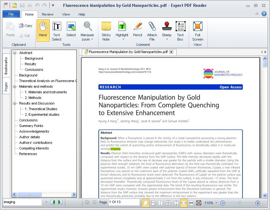 Expert PDF Reader is a free pdf viewer software that lets