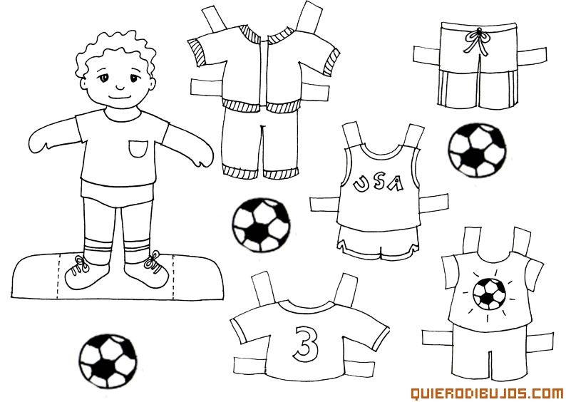 Recortable chico | Muñecas De Papel | Pinterest | Recortes, Colores ...