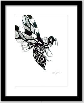 JargenInk | Drawings & Illustration | ArtPal  #penandink #originaldrawing #blackandwhite #northwest #nativeamerican #bumblebee #insect