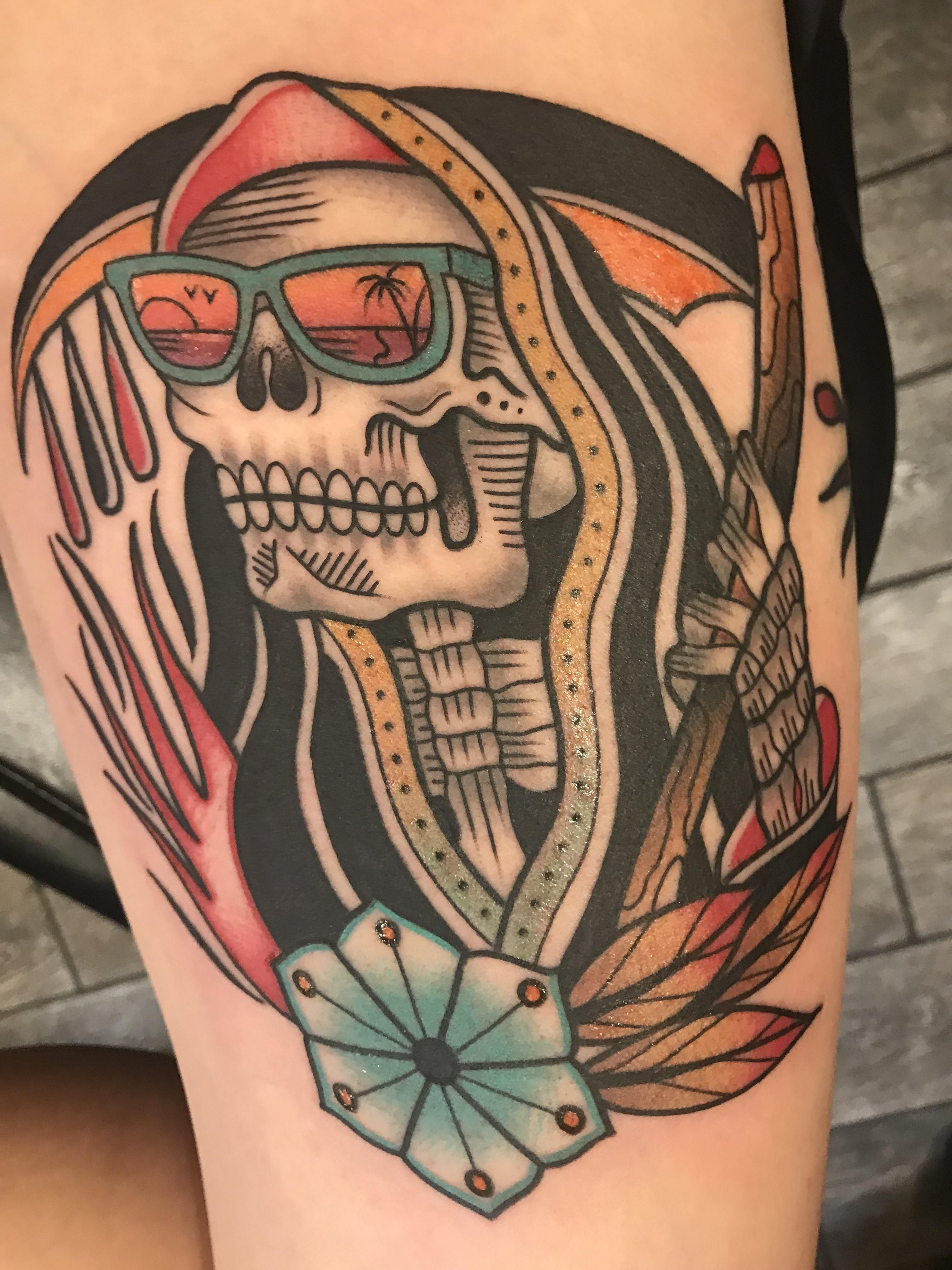 California reapin - Zack Taylor at evermore tattoo in Los Angeles ...