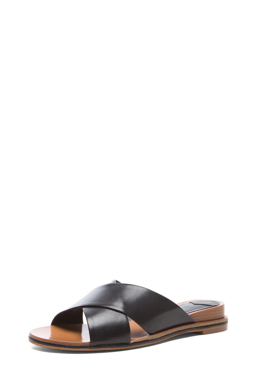 10 Crosby Derek Lam Pete Leather Sandals In Black Leather Sandals Sandals Derek Lam 10 Crosby