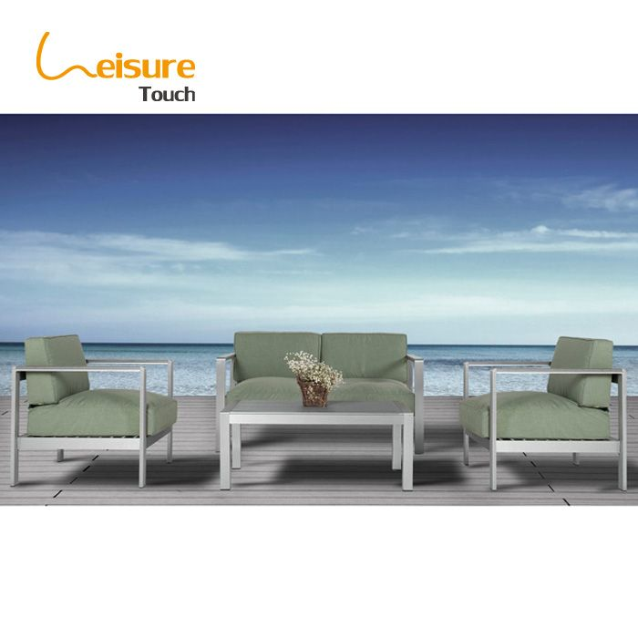 hot selling cheap outdoor garden furniture leisure aluminium simple double sofa chair with cushions