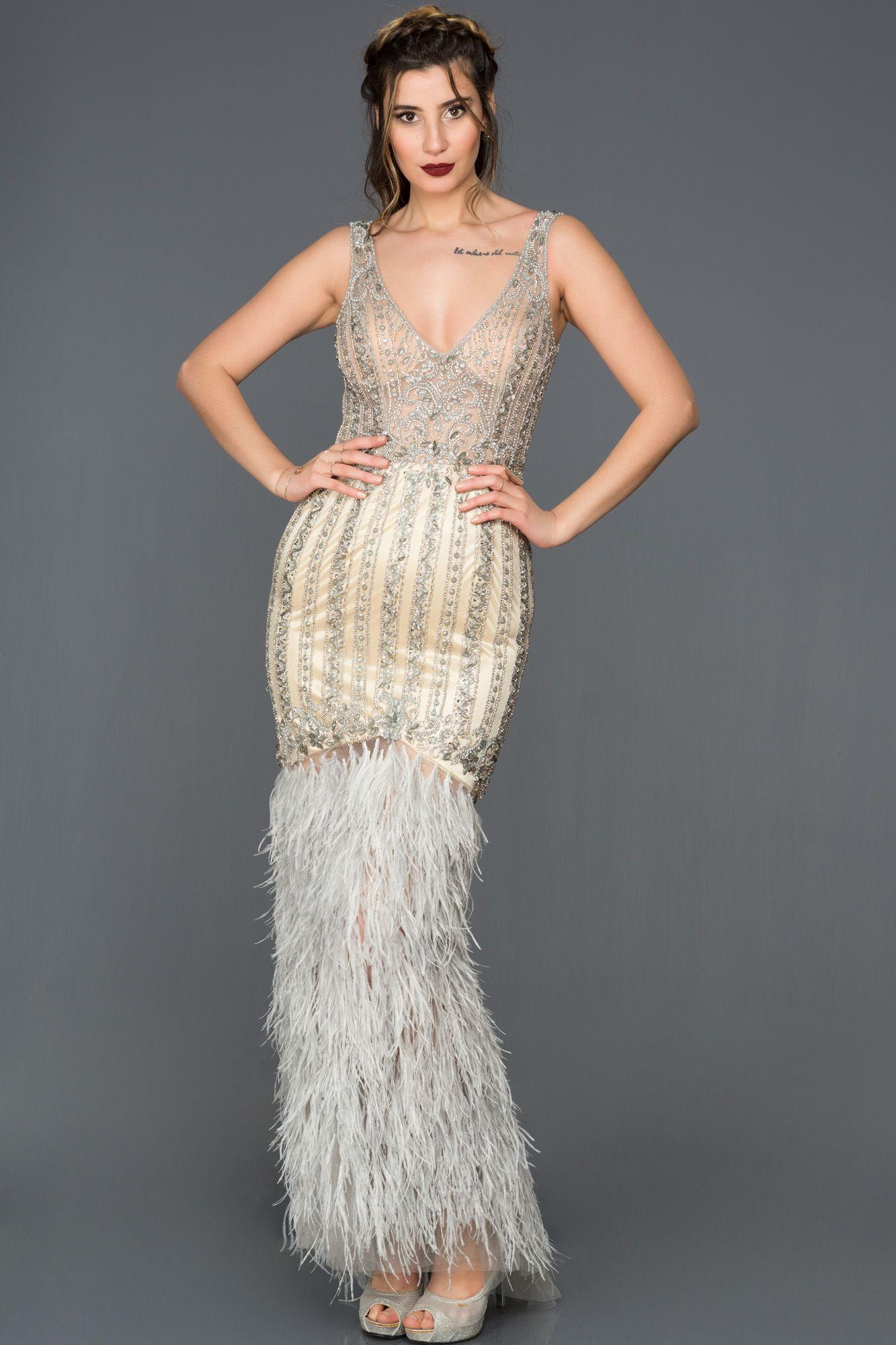 Otris Detayli Ozel Tasarim Abiye Elbise Ab77080 Elbise Resmi Elbise The Dress
