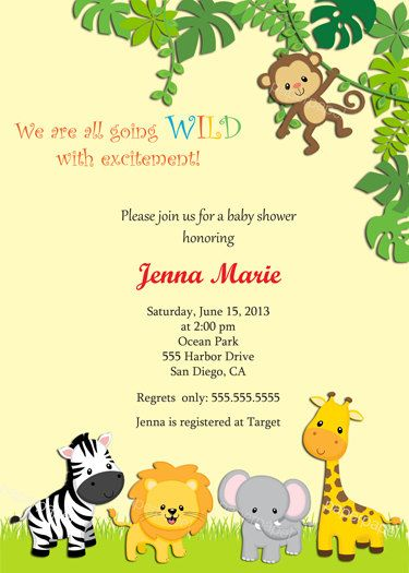 Jungle Zoo Safari Theme Gender Neutral Baby By
