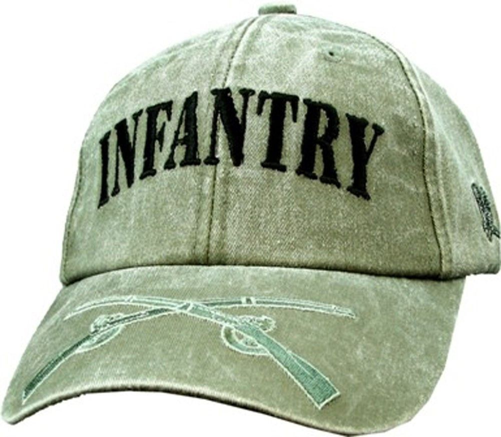 Infantry Embroidered Military Baseball Cap- OD Green  2dfef8804fcb