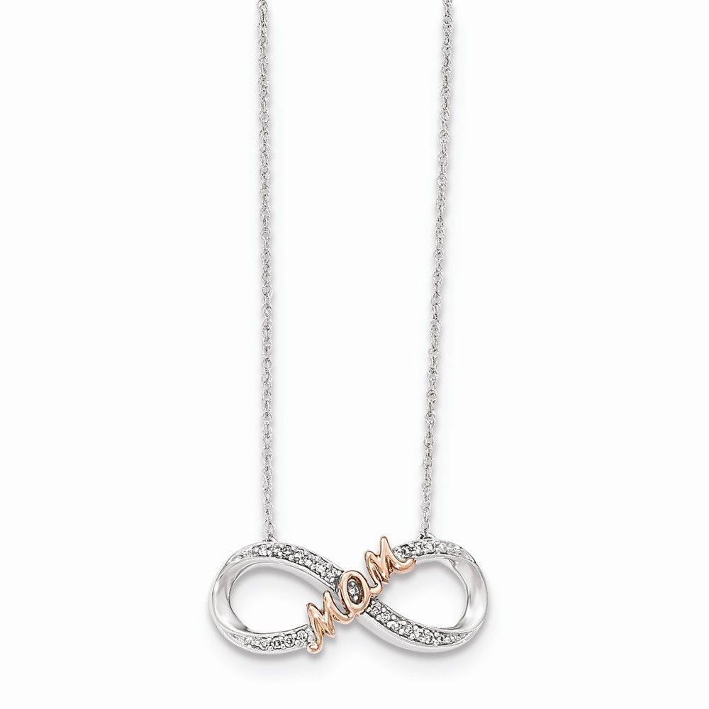 14k two tone diamond mom infinity symbol necklace infinity 14k two tone diamond mom infinity symbol necklace buycottarizona Choice Image
