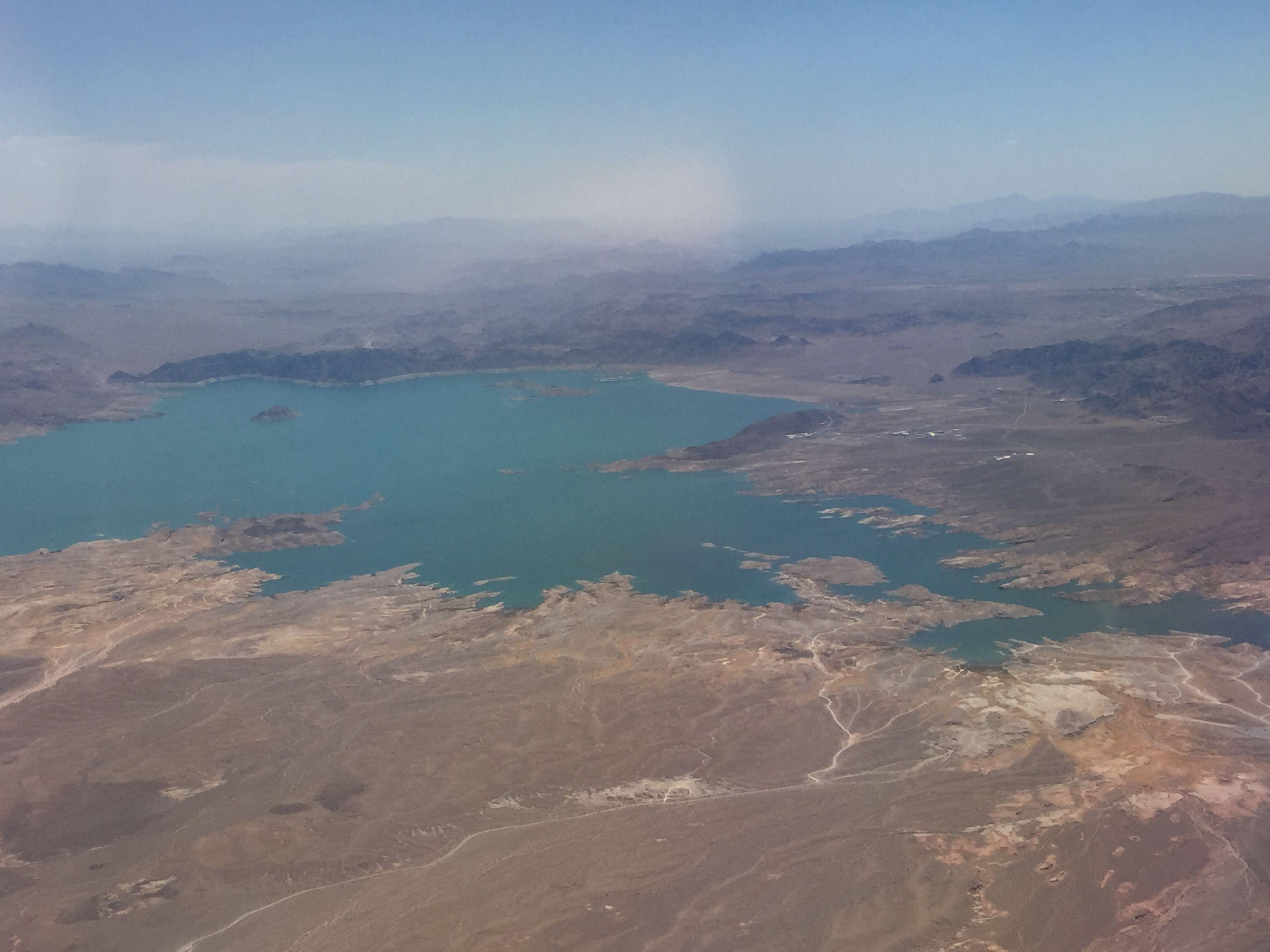 Lake mead lake mead airplane view lake