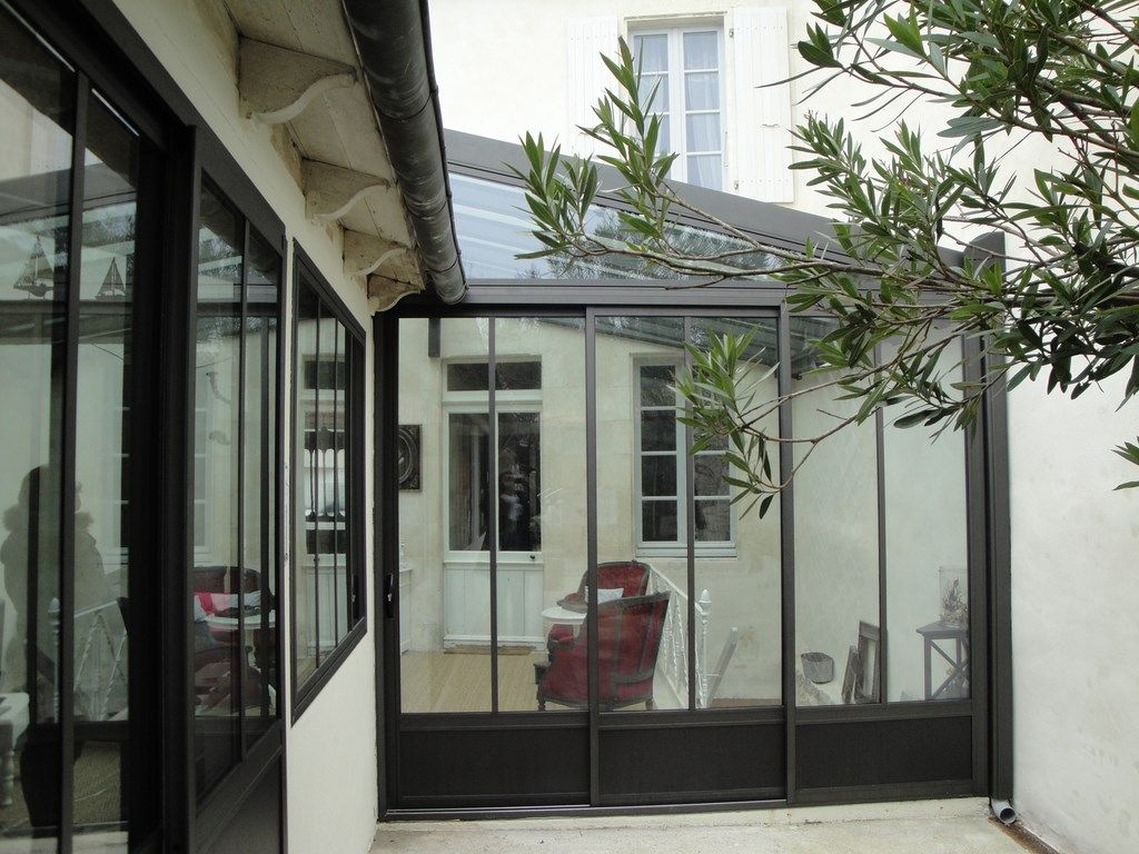 Fermetures aluminium kawneer deco pinterest coupe for Baie vitree interieure type atelier