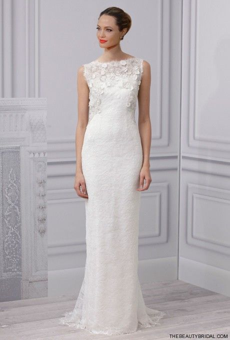 Angelina Jolie Bridal Gown by Monique Lhuillier | hair styles ...
