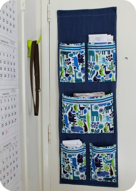 Diy Project Sew A Fabric Mail Organizer For The Wall