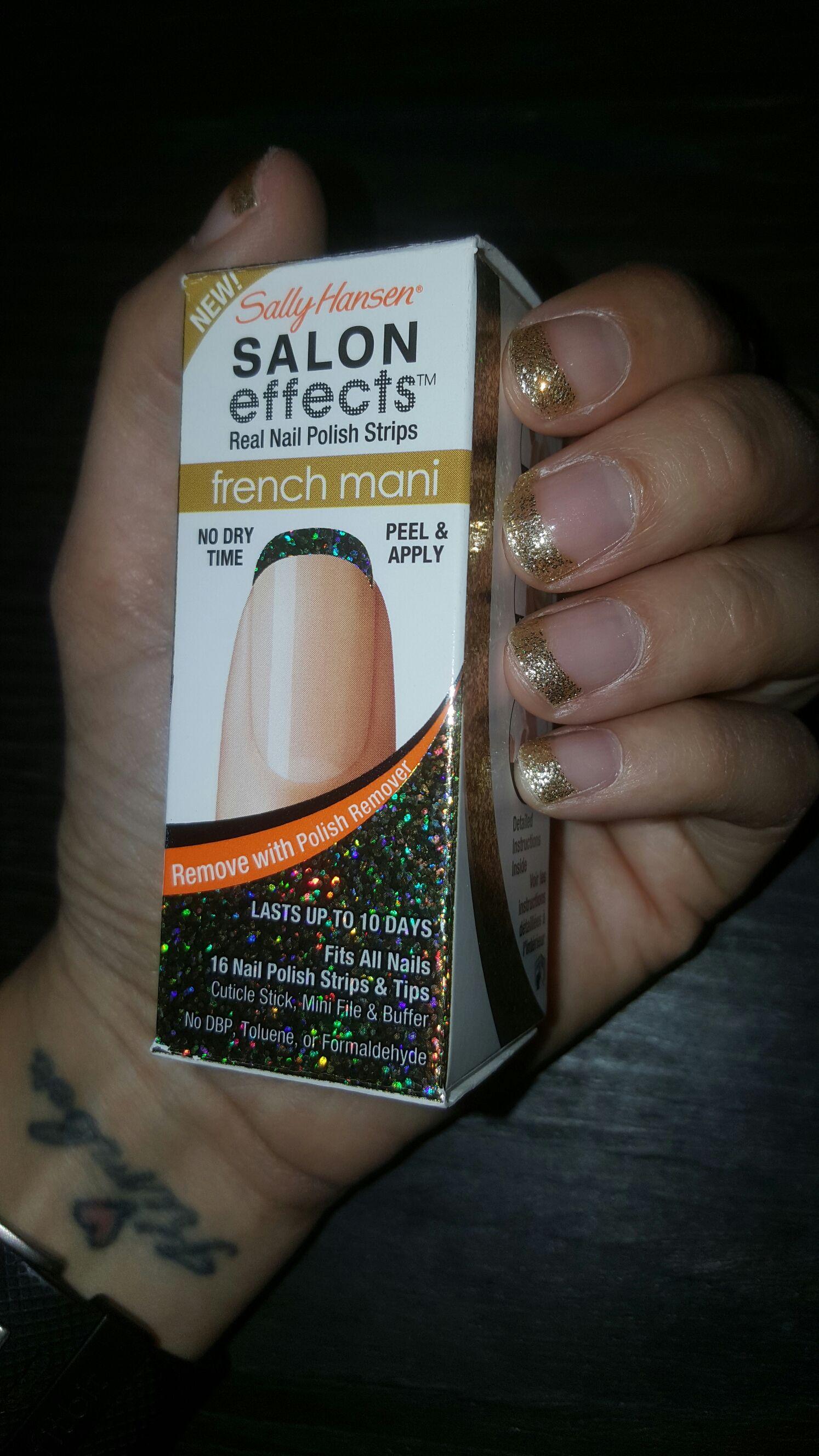 Sally Hansen Salon Effects Gold Cabaret French Mani Nail Polish ...