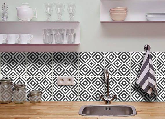 Fliesen Folie für bad küchen deko fliesen folie wandfliesen geometric tile