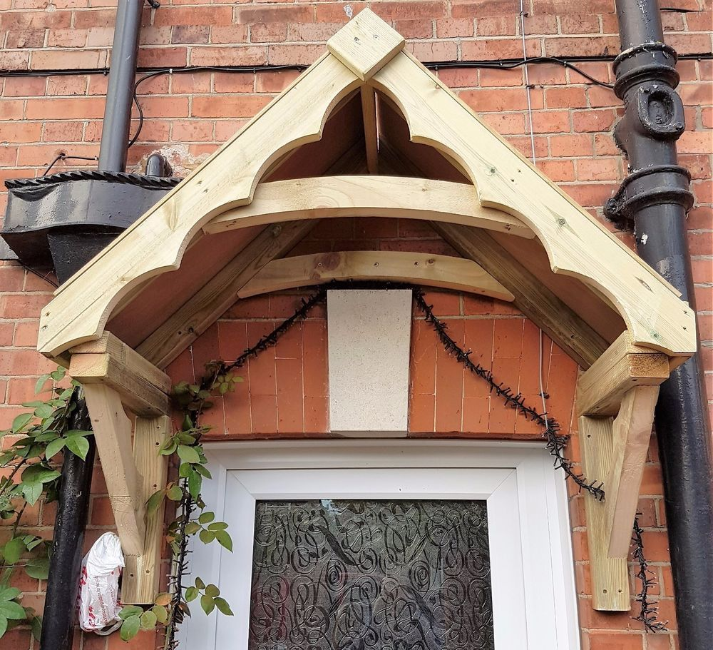 Timber cottage style front door canopy porch