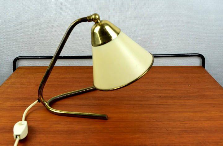 Kleine 50er Jahre Lampe Mit Messing Fuss Vintage Etsy Lamp Vintage Table Lamp Solid Brass