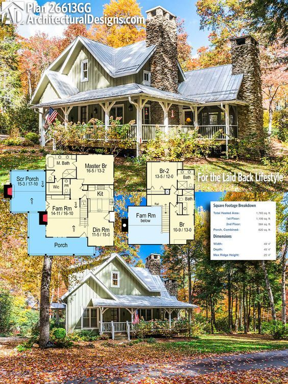 Plan 26613gg For The Laid Back Lifestyle Rustic House Plans Farmhouse Plans House Plans