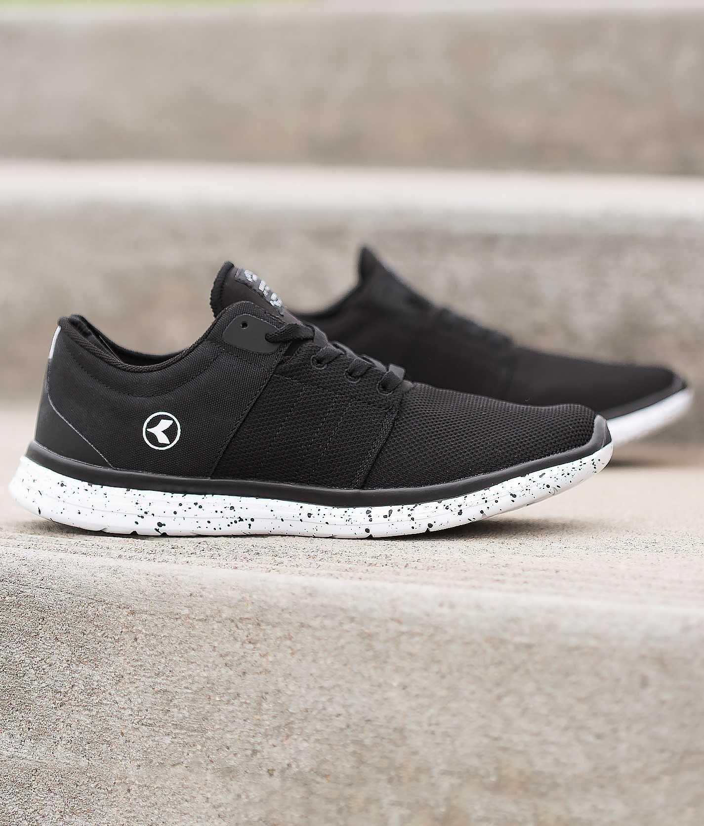 kustom black leather shoes