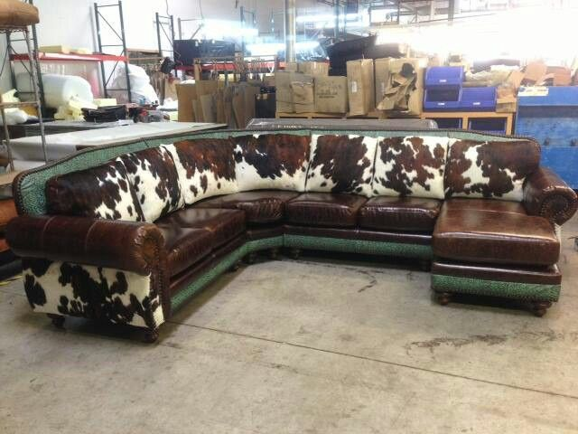 Cowhide Sectional In 2019 Furniture Western