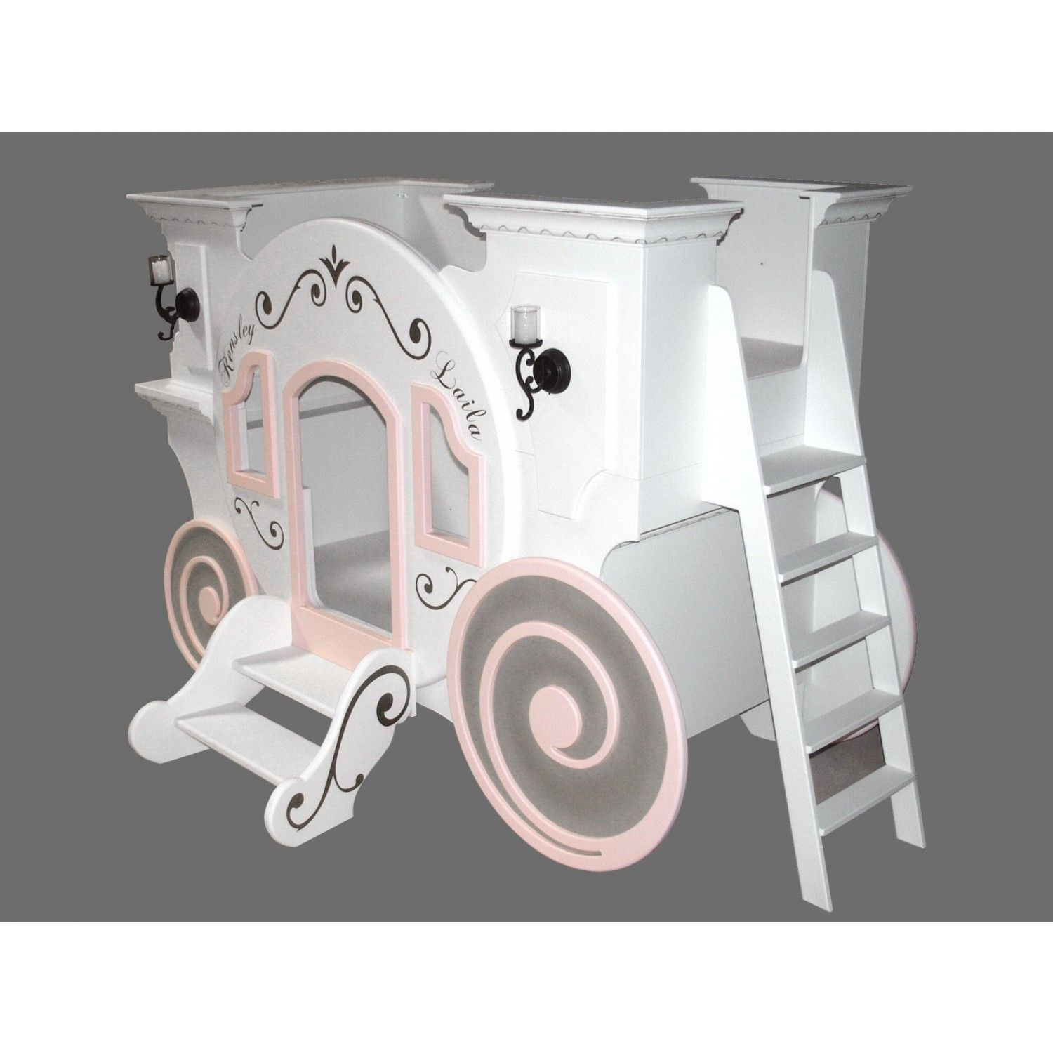 Blueprints For The Cinderella Princess Carriage Bunk Bed With Loft