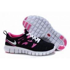 best service bf582 a2ab6 Femme Running (noir rose blanc) Chaussures Nike Free Run 2+-