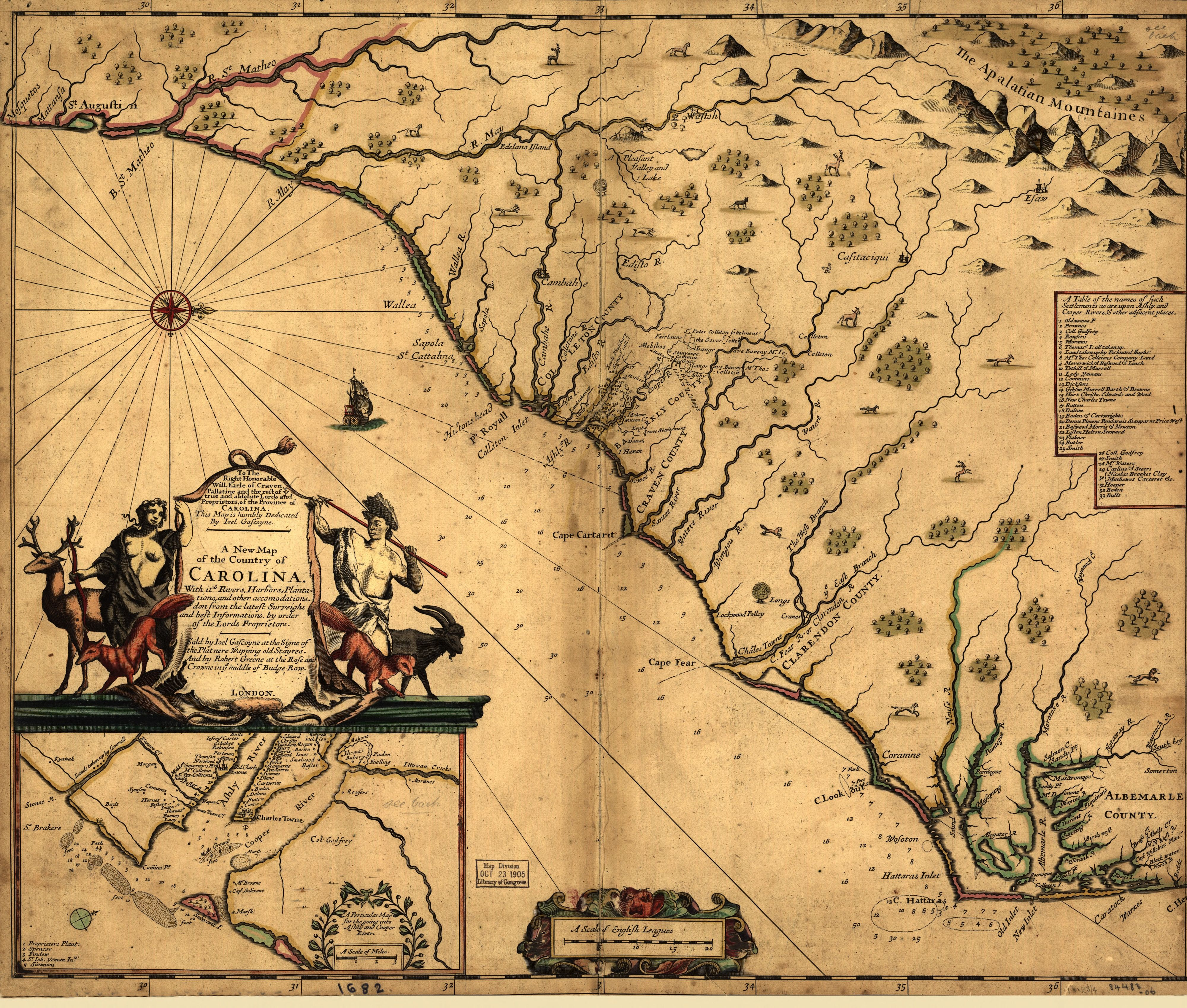 1682 A New Map of the Country