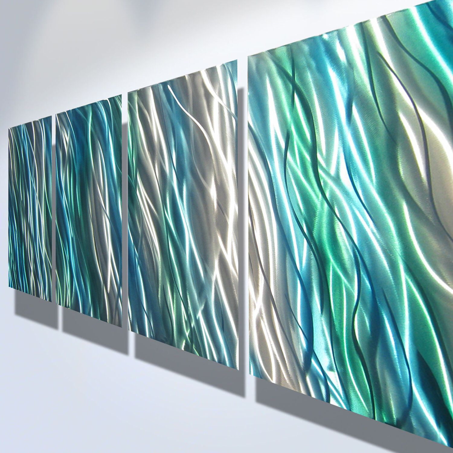 Metal wall art decor abstract contemporary modern for Modern artwork for home