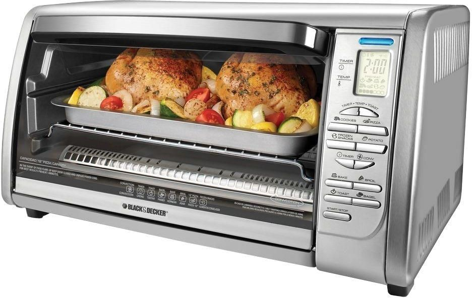 Digital Convection Toaster Oven Stainless Steel Black Decker 6