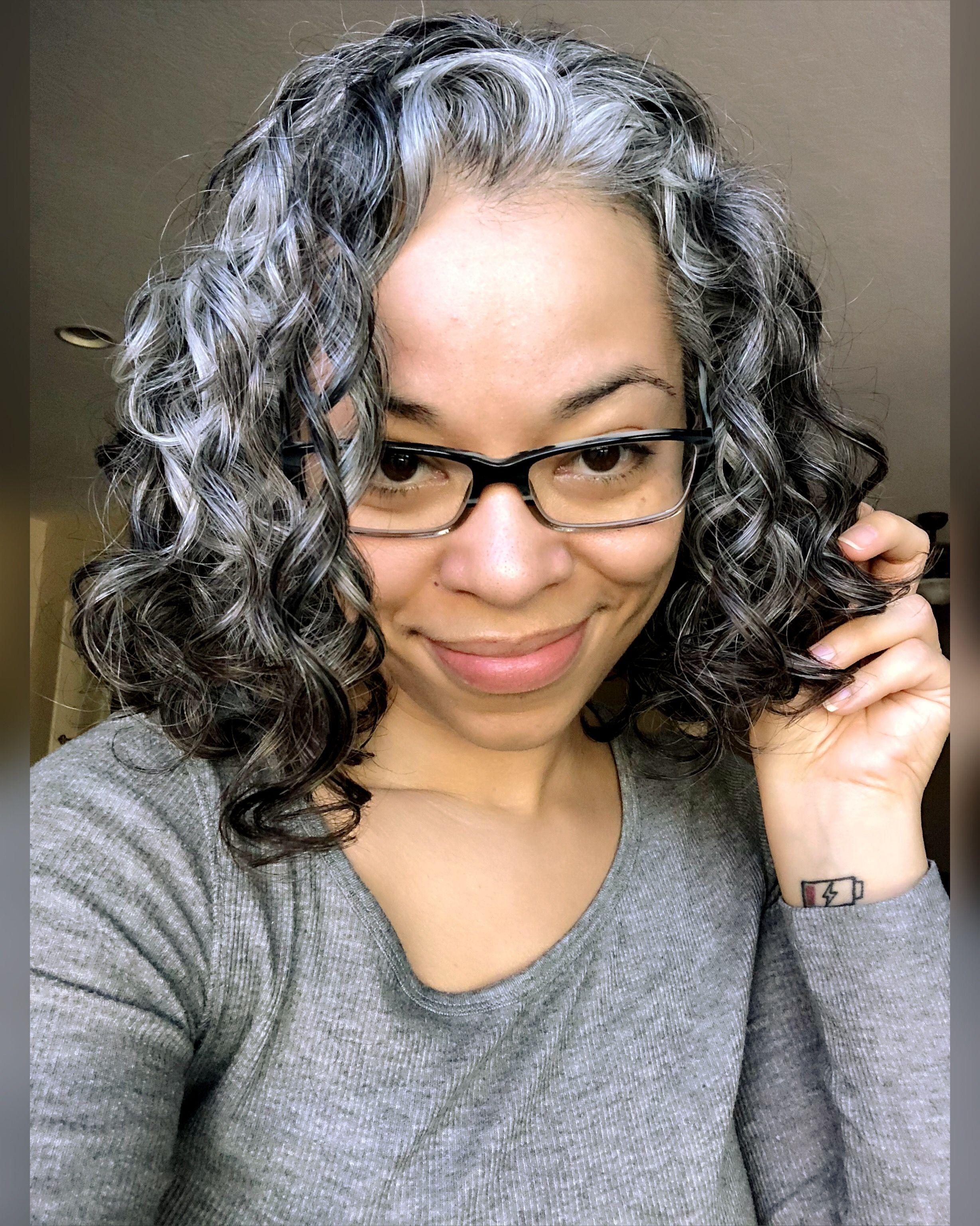 Natural Silver Curls Curly Silver Hair Natural Grey