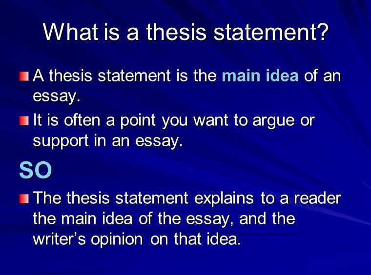 A thesis statment