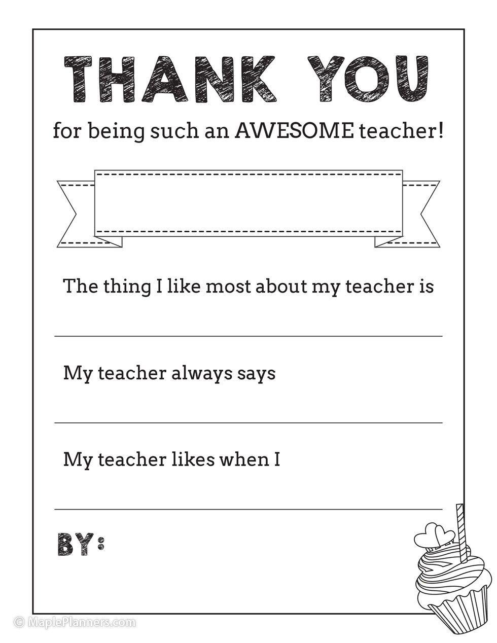 Free Printable Teacher Appreciation Thank You Notes Teacher Appreciation Printables Teacher Appreciation Quotes Printables Free Teacher Appreciation Printables