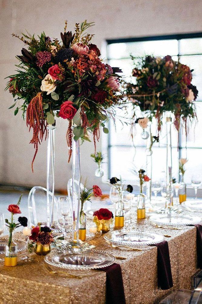 39 Gorgeous Tall Wedding Centerpieces Wedding Pinterest Tall