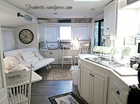 Weekend retreat before afters summer rv and rv makeover - Renovation interieur mobil home ...