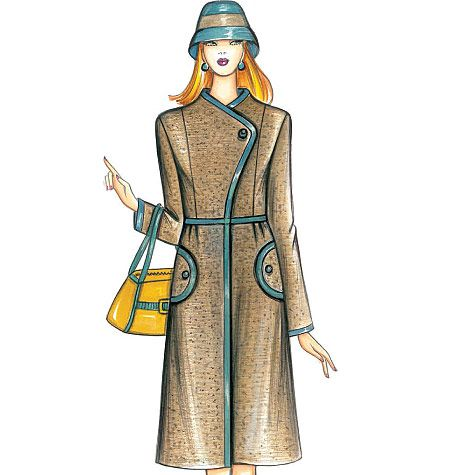 F3755, Marfy Coat | Figurines de moda | Pinterest