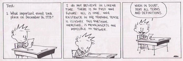 Calvin always being genial.