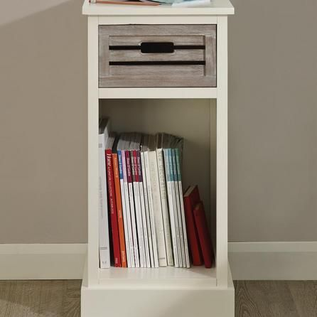 Designed With One Shelf And One White Washed Veneer Drawer, This Fully  Assembledu2026 Atlanta White 1 Drawer Telephone Table ...