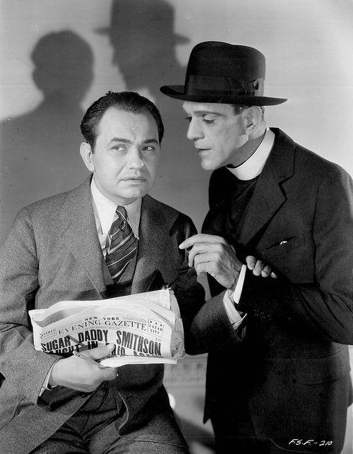 Edward G Robinson and Boris Karloff