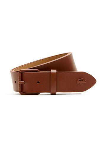 2f46828bd7095e Cinturón de cuero con cocodrilo tono sobre tono - tan LACOSTE Belt ...
