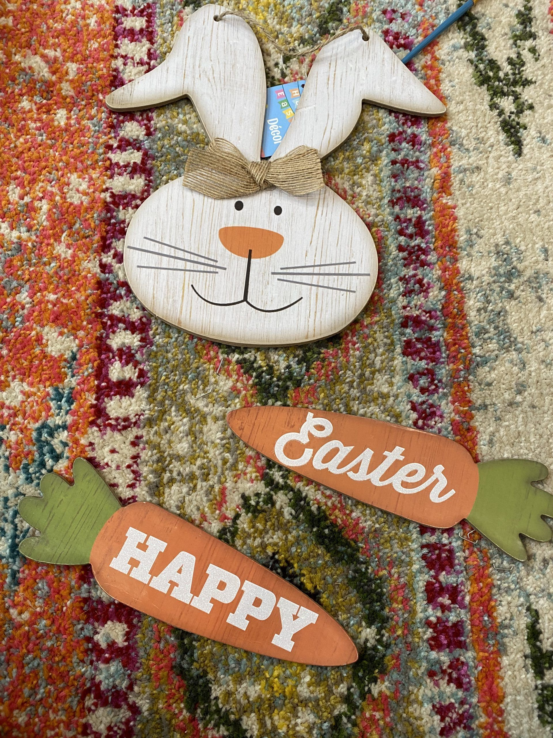 Dollar Tree Bunny Sign Makeover | This Dollar Tree bunny sign was really pretty cute. It had good bones, and I knew it had a lot of potential.- Re-Fabbed #DollarTree Easter #Spring