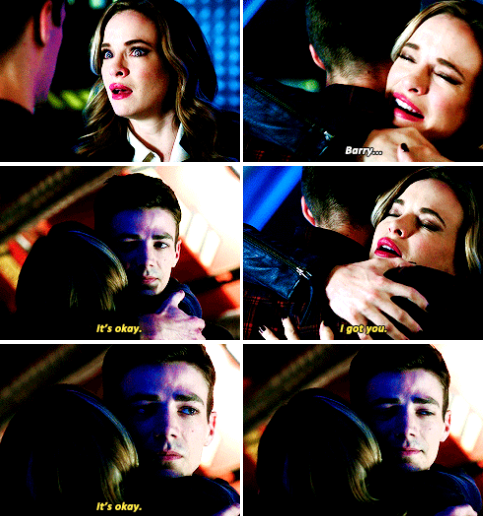 """""""It's okay. I got you"""" - Barry and Caitlin #TheFlash ooooooooooooooooo snowbarry snowbarry snowbarry they're so cute together.....omgjustomg"""