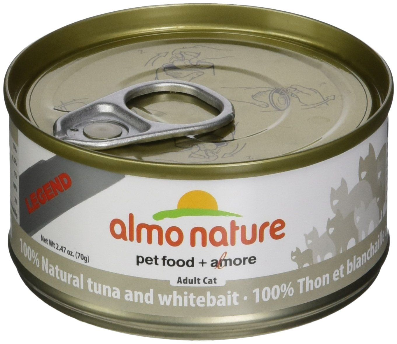 Almo 2 47 Oz Legend Tuna And Whitebait Canned Cat Food 24 Case Medium Want To Know More Click On The Image T Canned Cat Food Natural Pet Food Cat Food