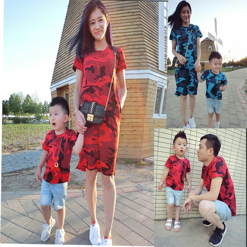 979582f53ae2 Family Look Matching Mother Daughter Dresses for Girls Father Mother Son  T-shirt for boys