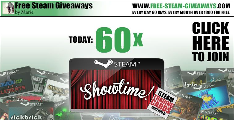 Free steam codes games 60x showtime