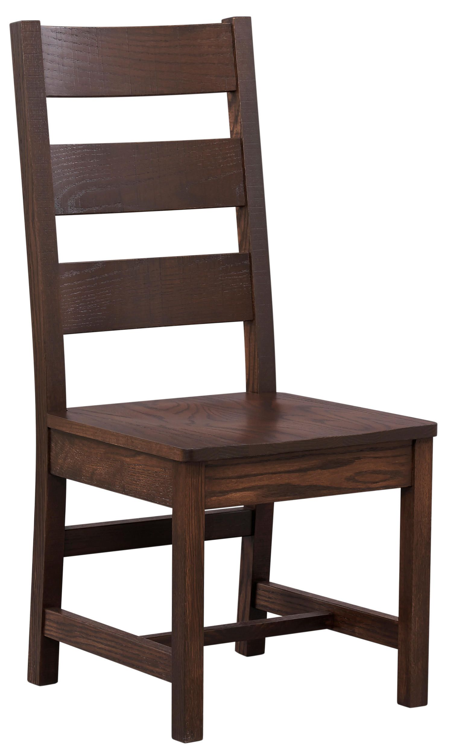 The Livingston Side Chair Has A Solid Oak Ladder Back With Tapered Seat And  A Chocolate
