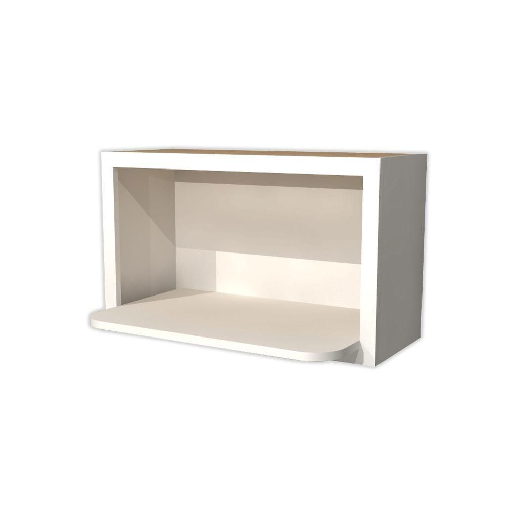 Kitchen Cabinet Microwave Shelf: Home Decorators Collection 30x18x18 In. Newport Assembled Wall Microwave Shelf In Pacific White