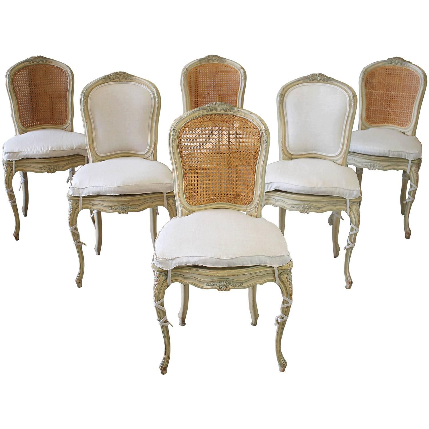 antique cane dining room chairs of the world gw2 19th century louis xv french with original paint