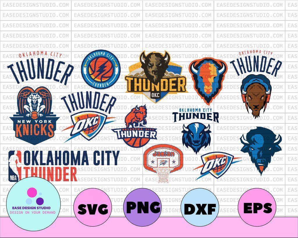 Nba Oklahoma City Thunder Oklahoma City Thunder Svg Basketball