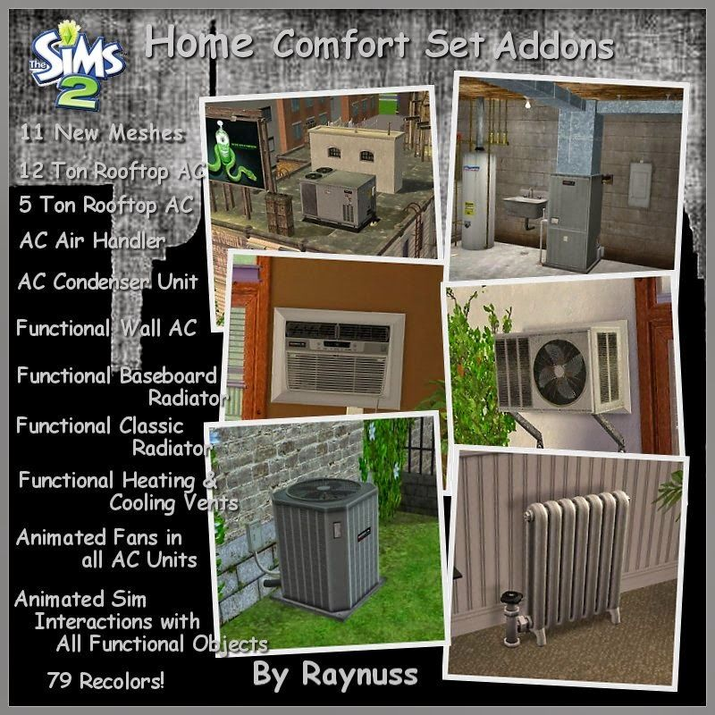 Home Comfort System Addons Sims Home Comforts Sims 2