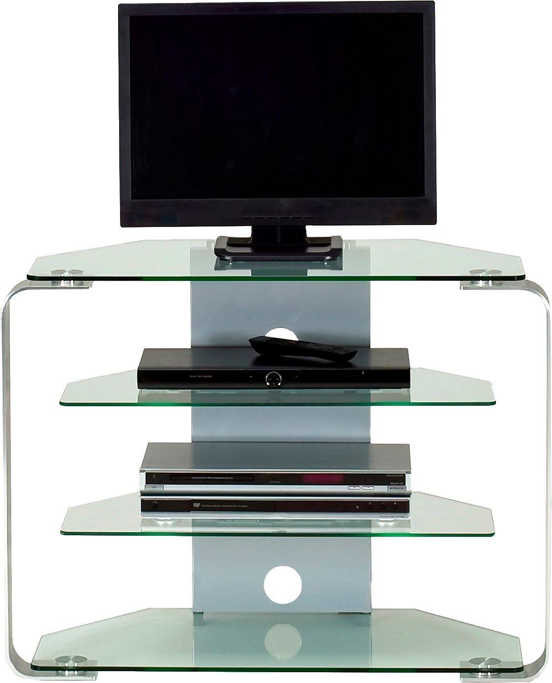jahnke tv mobel Jahnke Eck-LCD-TV-Möbel »CU-MR 100 LED« weiß