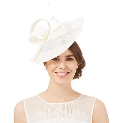 Principles by Ben de Lisi Ivory mini saucer fascinator  f6934f4035a