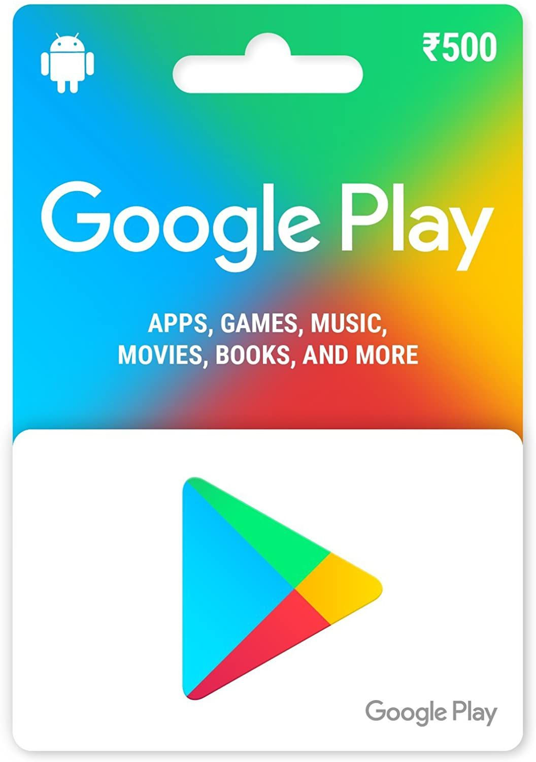 Google Play Gift Card Rs 500 Amazon In Gift Cards In 2020